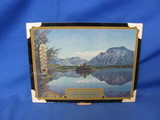 1945 Framed Glacier Park Picture With Thermometer – Not Working