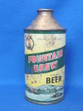 "Steel Cone Top Beer Can ""Fountain Brew"" - Fountain City, Wisconsin"