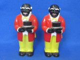"2 Uncle Mose Plastic pepper Shakers – 5"" tall – Made by F&F Mold & Die works"