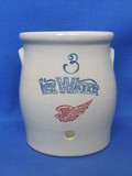 "Red Wing Stoneware Collector Society – Water Cooler ""Ice Water"" - 4 1/2"" tall"