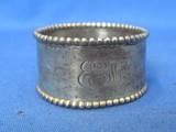 Sterling Silver Napkin Ring Engraved EEM – Weight is 17.7 grams