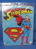 "New Metal/Tin Sign ""Superman"" - 16"" x 12 1/2"" - In sealed package"