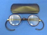 Vintage Plastic Coated Glasses with Gold Plate Fittings – Hard Case from Wallace, Idaho
