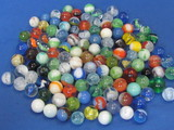 Mixed Lot of 100+ Glass Marbles – Cat's eye – Opaque & more