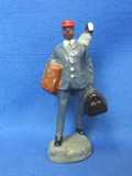 "Plastic Figurine – Black doorman or Porter – made in Japan – 3 1/4"" tall"