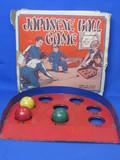 """""""Japanese Ball Game"""" Metal Target & 3 Wood Balls – Original Box – Made in USA"""