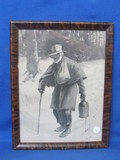 "Framed Vintage Print ""There's Many a Slip"" by EW Kemble – 1908 – Black Americana"