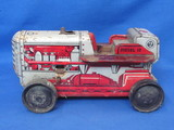 "Vintage Marx Tin Wind-Up Tractor – Diesel 12 – 8 1/2"" long – Missing Driver & Front Plow"
