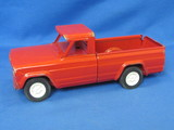 "Red Tonka Pickup Truck – Tailgate says Jeep – Almost 9"" long – Rubber wheels"