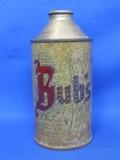 """Steel Cone Top Beer Can """"Bub's Beer"""""""