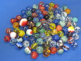 Mixed Lot of 85+ Marbles – 1 is Ceramic, the rest Glass