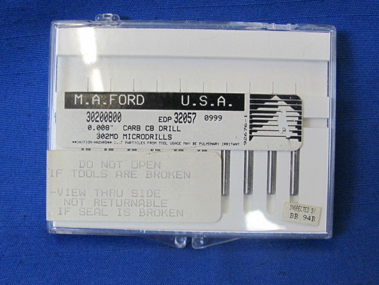 M.A. Ford 0.008 Carbide CB Drill Bits