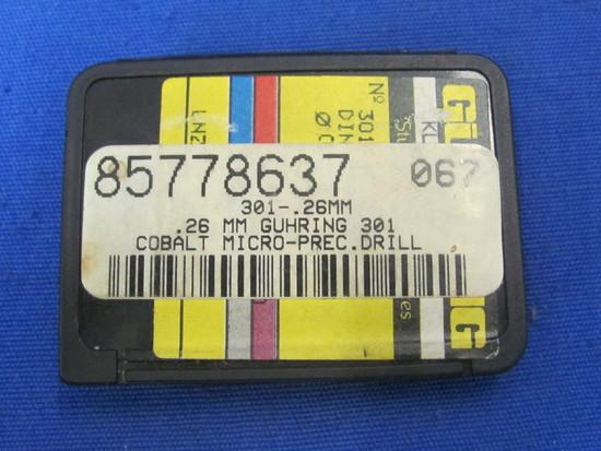 0.26mm Guhring 301 Cobalt Micro Prec Drill Bits