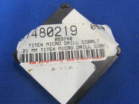 0.21Titex Micro Drill Cobalt Bits