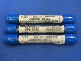 M.A. Ford No: 7/64 Solid Carbide Jobbers Drill Lot Of 3