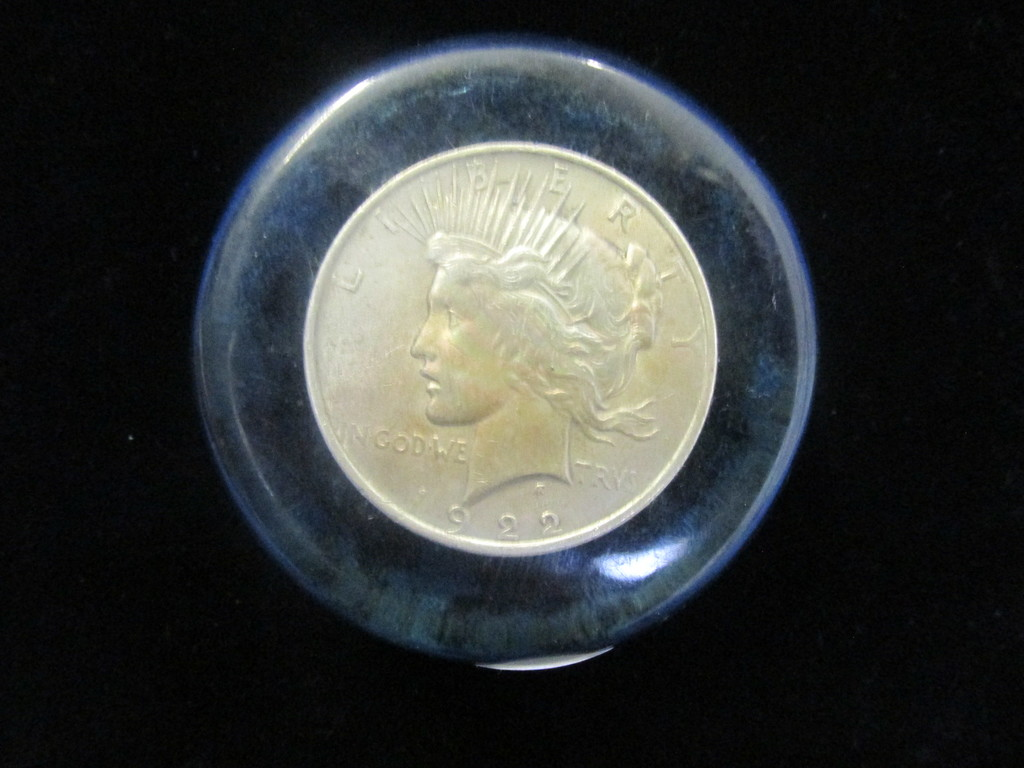 1922 Error Peace Dollar- Sliver Doller Coin with Display Case