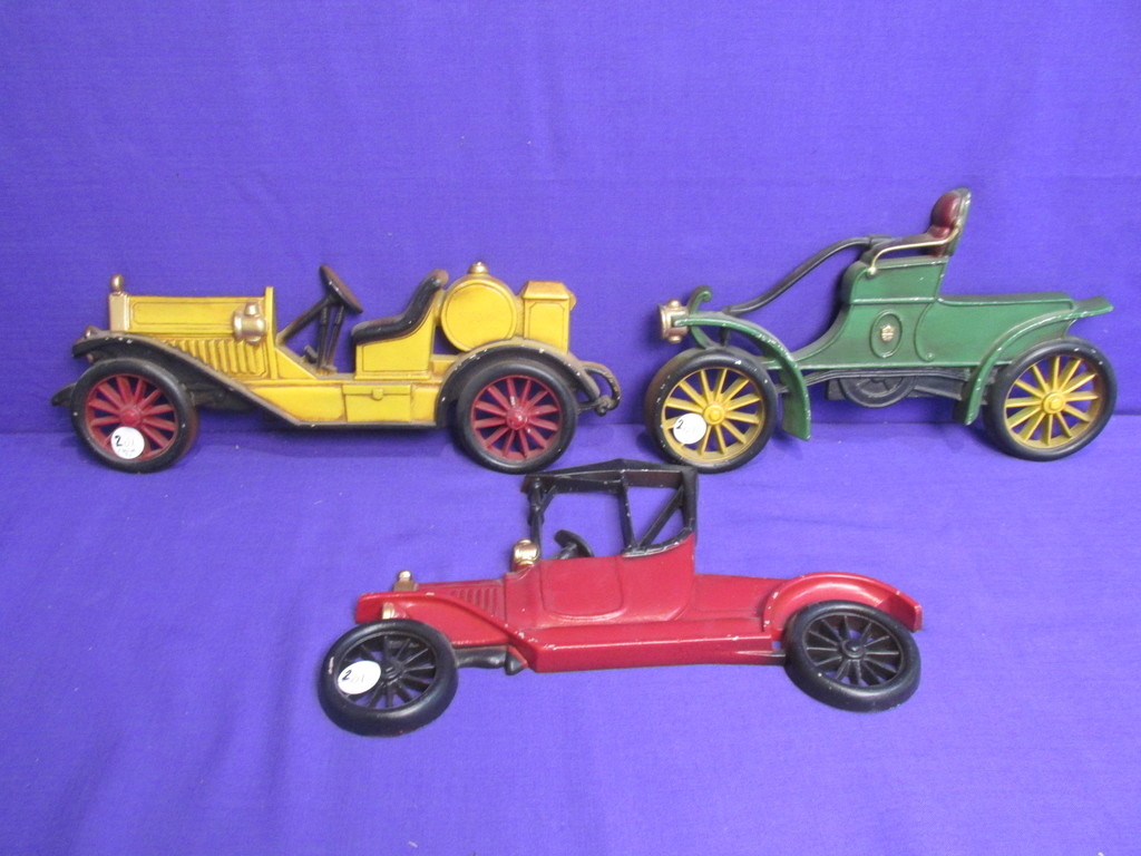 Vintage Cast Metal Wall Plaques 3 Antique Cars By Sexton Usa Art Antiques Collectibles Collectibles Vintage Retro Collectibles Auctions Online Proxibid