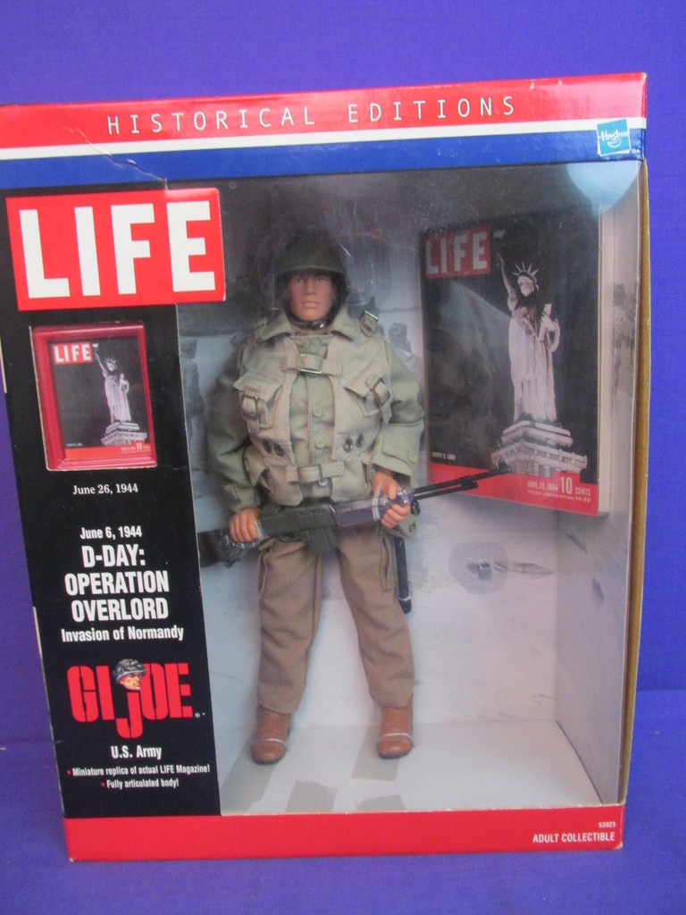 GI JOE D-DAY Toy HASBRO . OPERATION OVERLORD HISTORICAL LIFE EDITIONS FIGURE