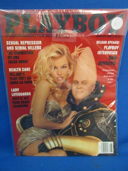 Playboy August 1993 -  Pamela Anderson & Dan Akroyd Cover