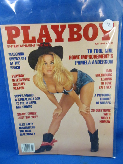 "Playboy  July 1992 ""Madonna Shows off at the Beach –Pamela Anderson"