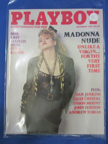 "Playboy September 1985 ""Madonna Nude"" - Last stapled Issue"