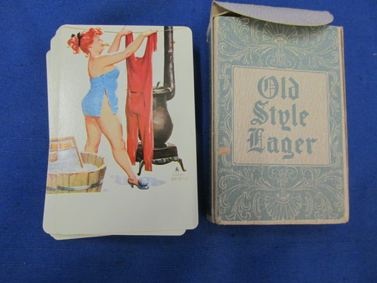 """Old Style Lager"" Pin-Up Playing Cards- All Same Image – Artist Duane Breyer"