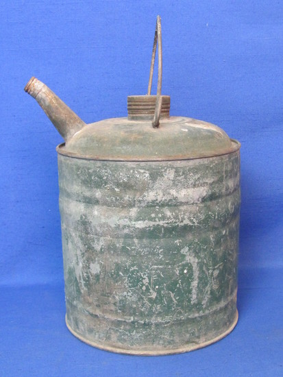 "1 Gallon Vintage Gas Can – Green – 8 1/4"" tall"