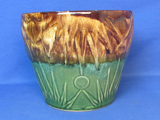 "Vintage Pottery Planter/Jardiniere by Robinson Ransbottom – Moon & Stars – 6 3/4"" tall"
