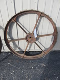 "Cast Iron Wheel – 31 1/2"" in diameter"