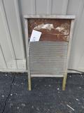 """Old Metal & Wood Washboard – 24 1/2"""" long"""