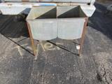 "Ideal Galvanized Metal Double Washtub – 31"" tall – 32 1/2"" x 20"""