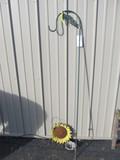 """Metal Shepard's Hook – 2 Pieces of Garden Art – Hook is 65"""" long"""
