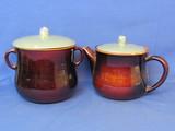 """Red Wing Pottery: Village Green Bean Pot & Teapot – Bean Pot is 7"""" tall"""