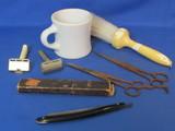 Shaving Lot: Straight Razor from Columbia Cutlery, Fuller Brush, Gillette Safety Razor