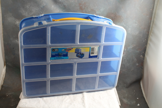 Tool Shop Double Storage Box with 20 Compartments RIMAX