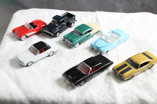 Large Lot 1:64 Diecast High Speed Cars 1964 1/2 Mustang, 1963 Ford Thunderbird,