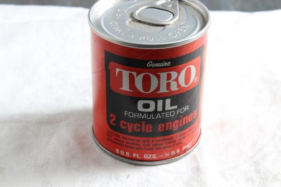 Vintage TORO Oil 2 Cycle Engine Unopened Zip Top 8 Oz Size