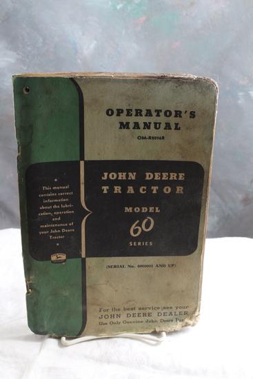 Vintage John Deere Tractor Model 60 Series Operator's Manual