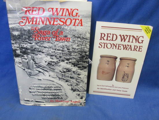 "2 Books On Red Wing: 1988-89 Value Guide  Red Wing Stone Ware & ""Red Wing"