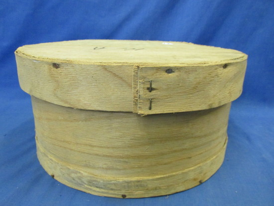 "Vintage Wooden Cheese Box 6"" T x 11 1/2"" DIA WIS DUREK MFG CO DENMARK"