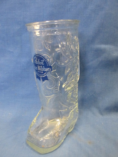 Pabst Blue Ribbon Beer Glass Boot 1 Pint (appx) Mug