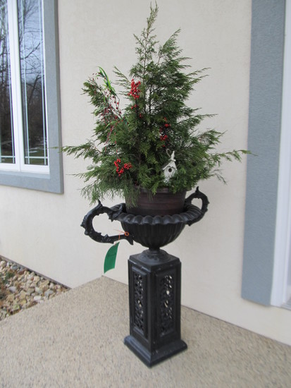 Wrought Iron Urn