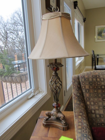 Lamp with Amber Accents