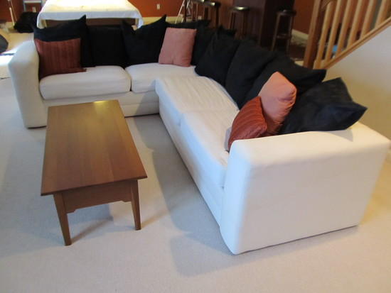 Down White Sectional Sleeper Sofa
