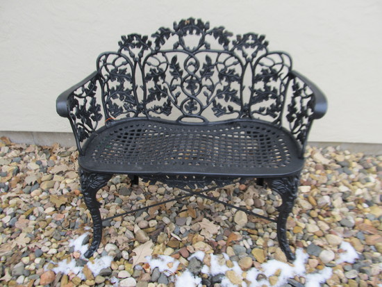 Small Wrought Iron Bench