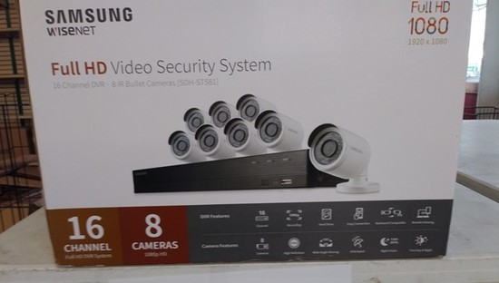 Samsung Wisenet Full HD Video Security System – 8 Camera – 16 Channel – New
