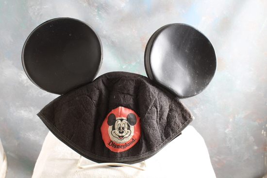 Mid-Century Disneyland Mickey Mouse Ears Beanie Hat