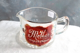 1925 Mother Embossed with Ruby Flash Floral Glass Creamer