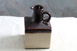 Old Stoneware Square Ewer Brown Top