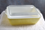 Vintage Pyrex Refrigerator 503-B Yellow Container with Lid